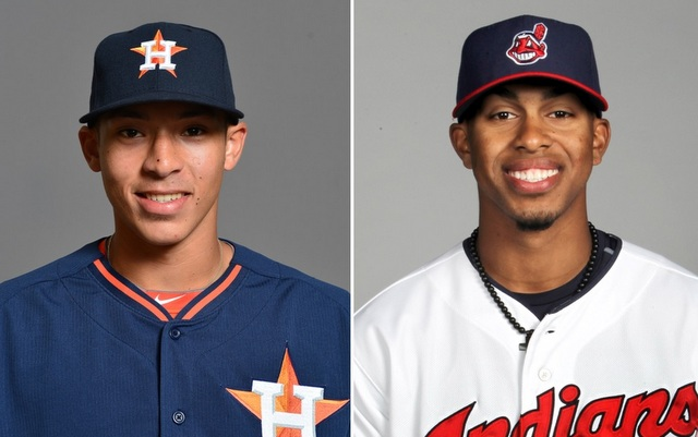 Two of MLB's top prospects were traded for one another. Kinda.
