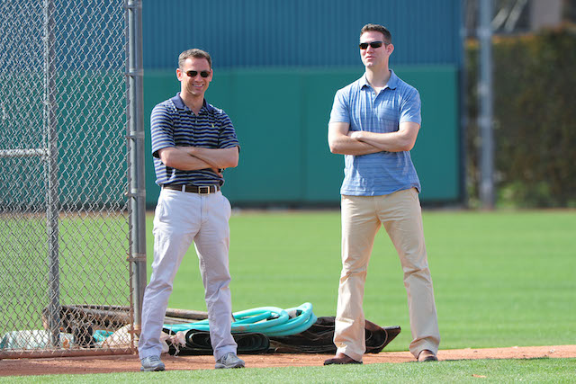 If Jed Hoyer (left) and Theo Epstein don't get it done in Chicago, will it be because of curses and whatnot? Don't be silly. (USATSI)