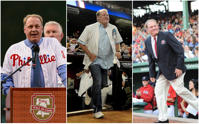Thanks to big trades, Curt Schilling is a baseball hero in three cities. (USATSI)
