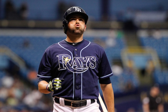 The Rays will be without the services of outfielder David DeJesus for several weeks. (USATSI)