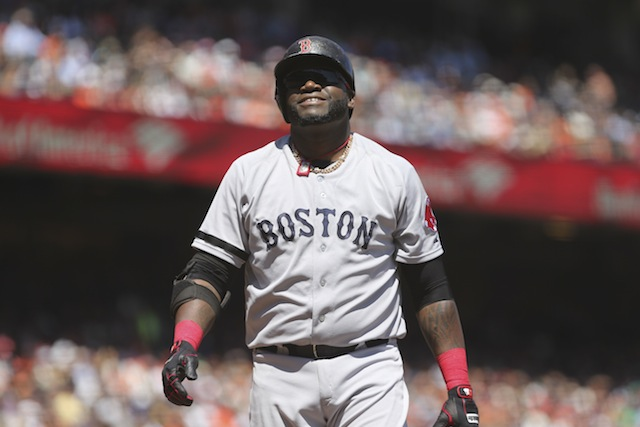 David Ortiz is having back problems just in time for a big inter league series. (USATSI)