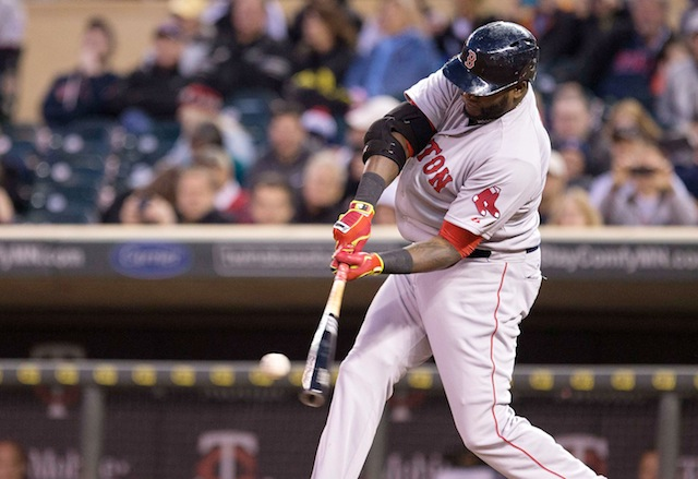 David Ortiz has done a lot of this since turning 35. (USATSI)