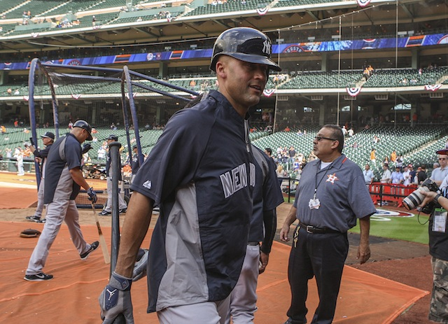 The Astros have a special night planned for Yankees captain Derek Jeter. (USATSI)