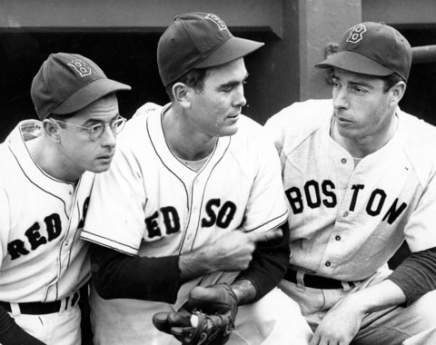 100% authentic 8eb42 6235d Photo of the Day: Joe DiMaggio wearing a Red Sox uniform ...