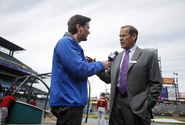 Rockies owner Dick Monfort (right) might need to work on his customer-service skills. (USATSI)