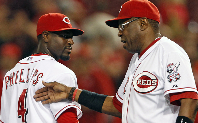 Brandon Phillips will be in the lineup for Dusty Baker on Tuesday.