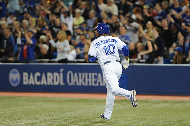 Edwin Encarnacion takes another leisurely trip around the bases. (USATSI)