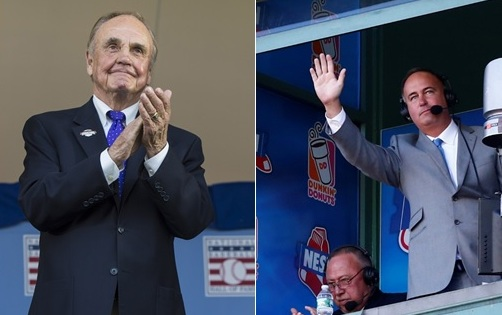 Don Orsillo (r.) will replace the retiring Dick Enberg.