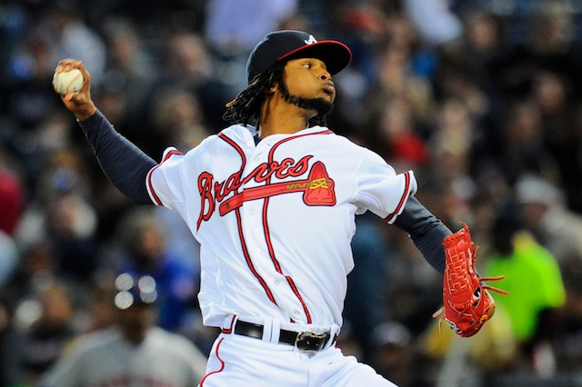 Ervin Santana made a strong first impression on the Braves. (USATSI)