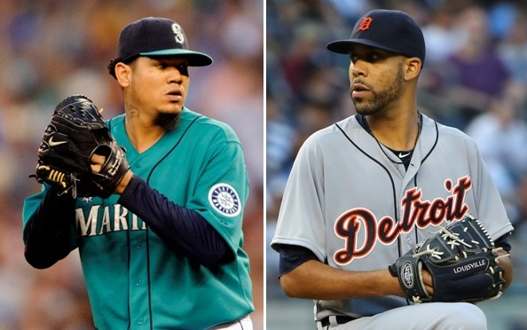 Felix Hernandez and David Price will meet head-to-head on Saturday.