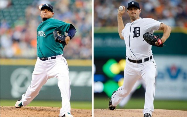 Felix Hernandez (left) and Max Scherzer stand out from  the AL Cy Young pack.