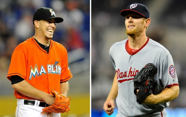 Could Jose Fernandez (left) or Stephen Strasburg be the next $200 million pitcher?