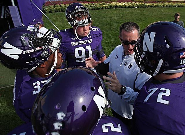 Under contract at NU till 2020, Fitzgerald is frequently mentioned for coaching jobs. (Getty Images)