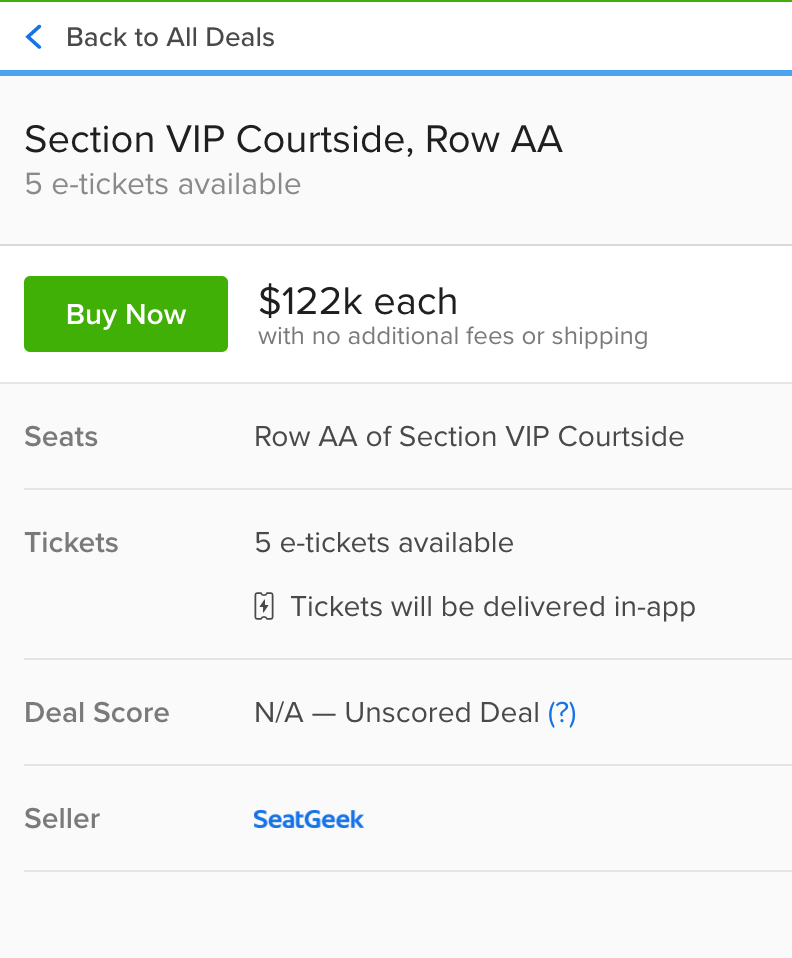 Nba Finals You Can Sit Courtside For Game 7 For Only 122 000