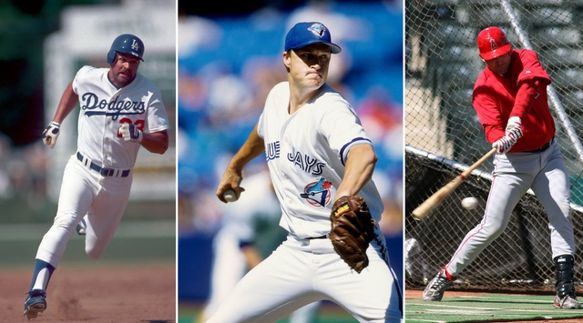 Kirk Gibson (left), Mike Timlin (center) and Tim Salmon are all on our team. (USATSI)