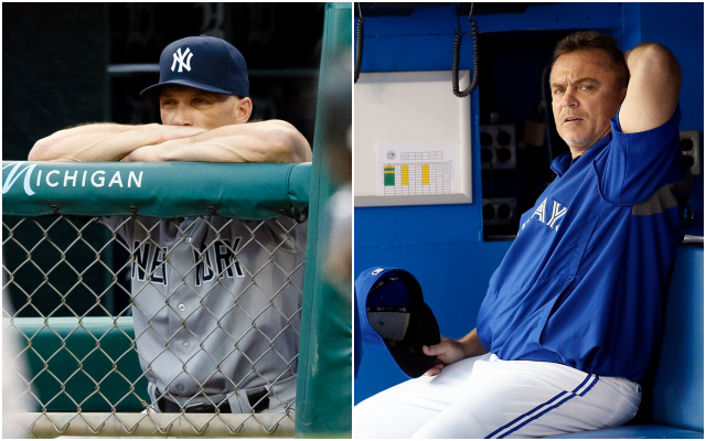 When it comes to the manager challenge, Joe Girardi (left) and John Gibbons are seeing very different results. (USATSI)