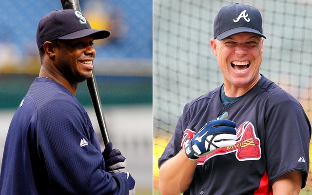 Ken Griffey Jr. (left) and Chipper Jones will join the Hall of Fame ballot in the coming years.