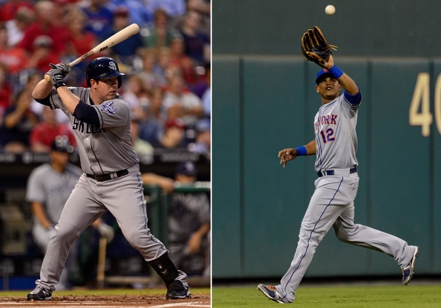 Jedd Gyorko (left) and Juan Lagares are afterthoughts in this deep NL rookie class.