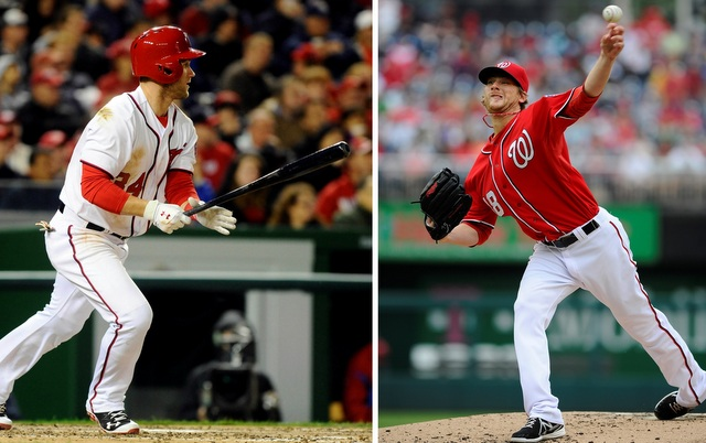 Bryce Harper (left) and Ross Detwiler will miss time with injuries. (USATSI)
