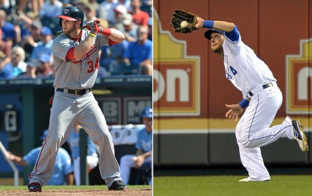 Combine Bryce Harper (left) and Alex Gordon, and you have most of baseball's perfect left fielder.