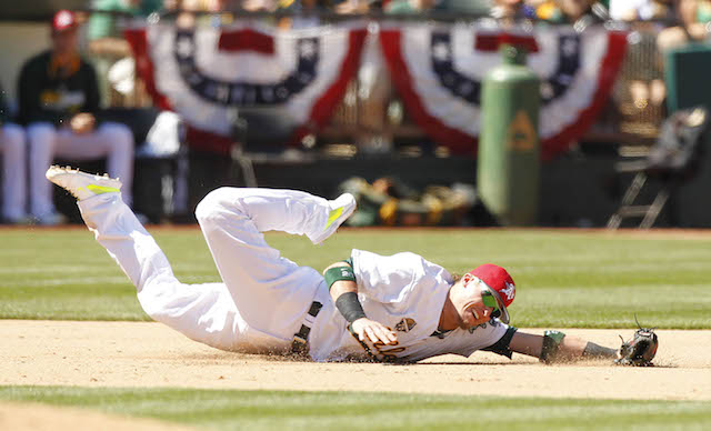It likely won't surprise you that Josh Donaldson is at the top of his game when it comes to highlight plays. (USATSI)