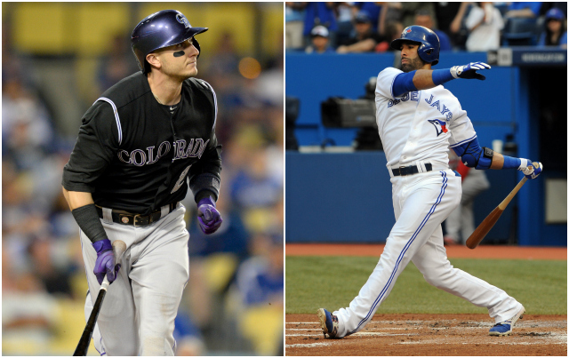 Tulo (left) and Joey Bats will be your Home Run Derby captains for 2014. (USATSI)