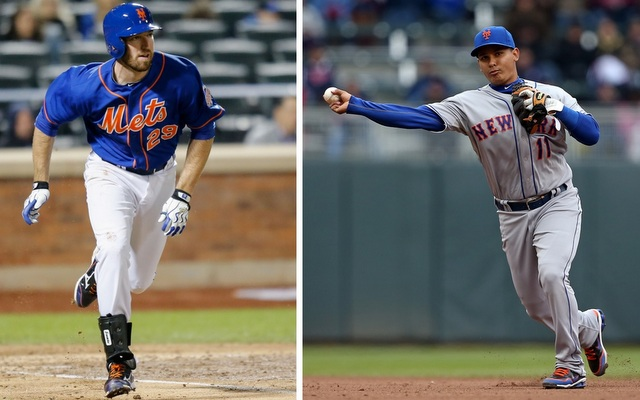 Ike Davis (left) and Ruben Tejada would be in Triple-A if it wasn't for Monday's win. (USATSI)