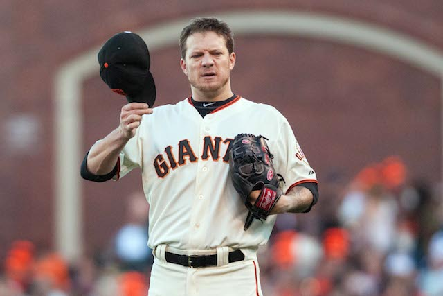 Jake Peavy is dealing against the Brewers on Saturday night. (USATSI)