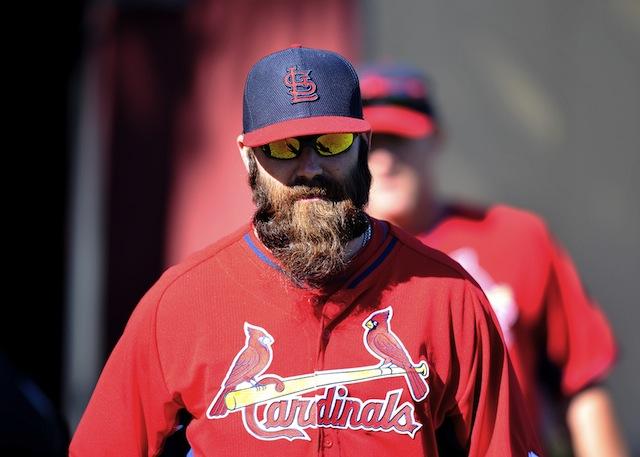 Jason Motte and his abundant beard will soon be back in the St. Louis bullpen. (USATSI)