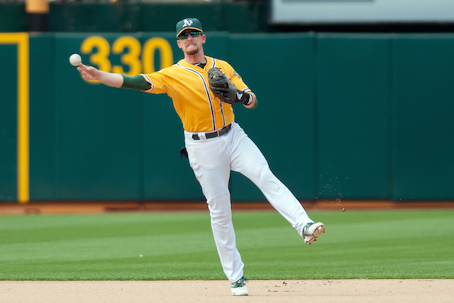 The first-place A's will be without shortstop Jed Lowrie for a while. (USATSI)