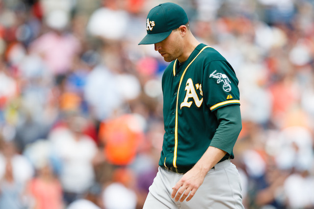 Jim Johnson's days in Oakland are at an end. (USATSI)