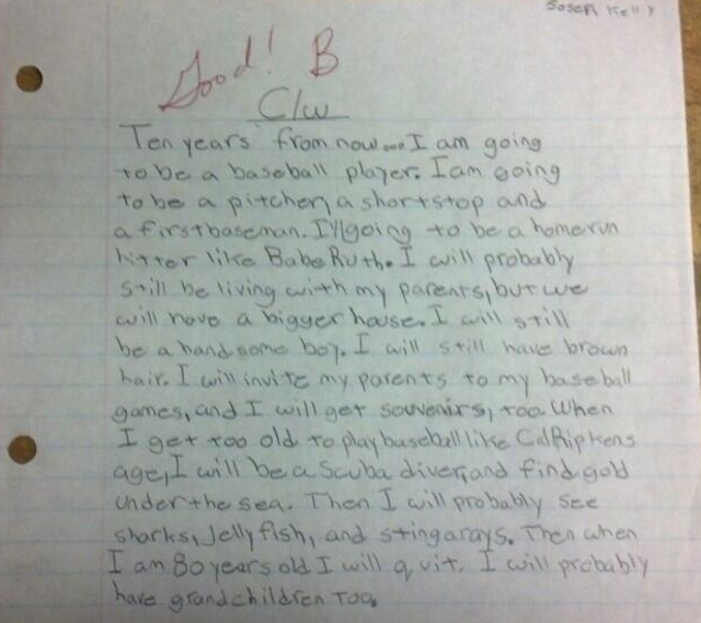 yearbook essay