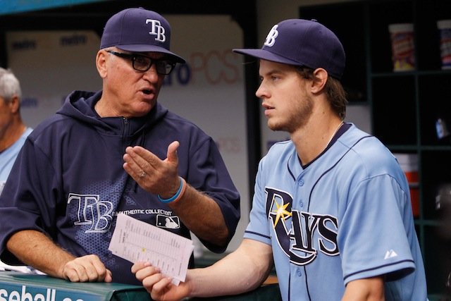 Joe Maddon (left) would seem to think highly of Wil Myers. (USATSI)