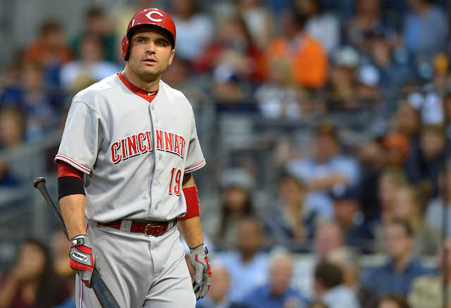 Joey Votto can't seem to shake the quad injury that's plagued him for much of the season. (USATSI)