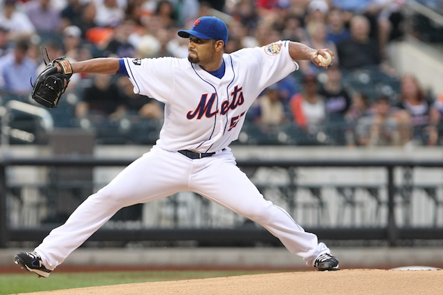 Johan Santana's latest injury raises the possibility that this is the last image we'll have of him on a big-league mound. (USATSI)