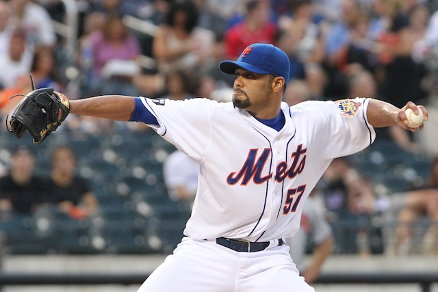 Johan Santana should be doing this again soon, except in an Orioles uniform. (USATSI)