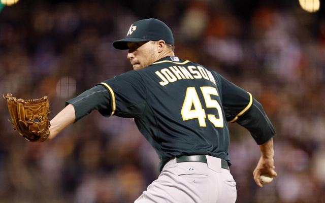 Jim Johnson has caught on with the Tigers.