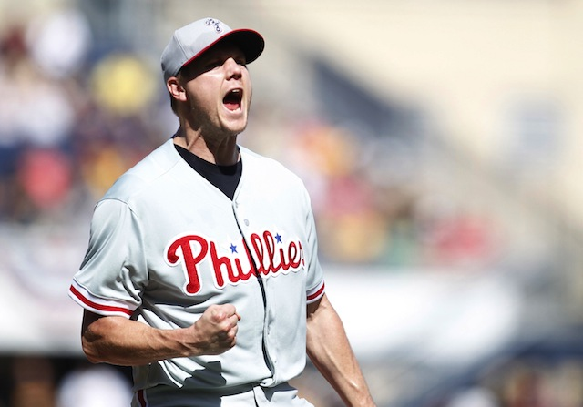 Jonathan Papelbon's mouth is open, and words are coming out of it. (USATSI)