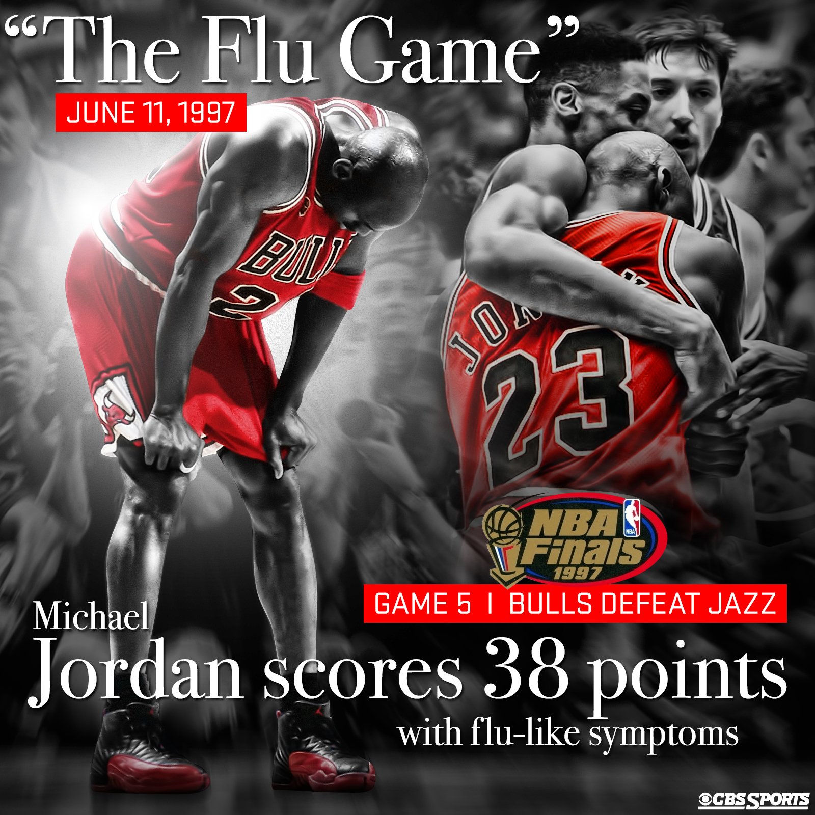 825079204104fb On this day in Michael Jordan history  The Flu Game - CBSSports.com