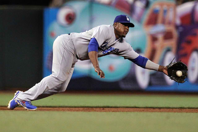 Dodgers third baseman Juan Uribe won't be snaring grounders for a while. (USATSI)