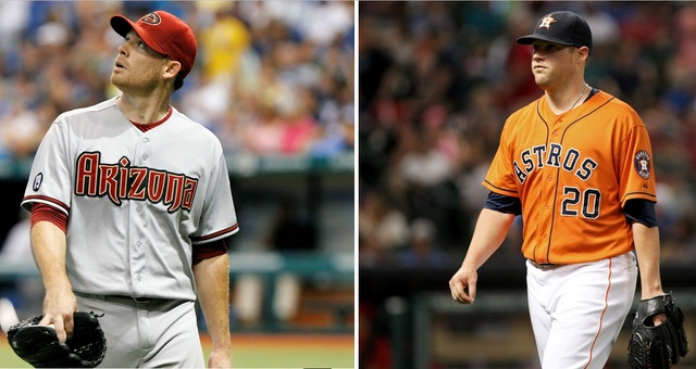 Ian Kennedy (left) and Bud Norris were the two biggest names to move on Wednesday.