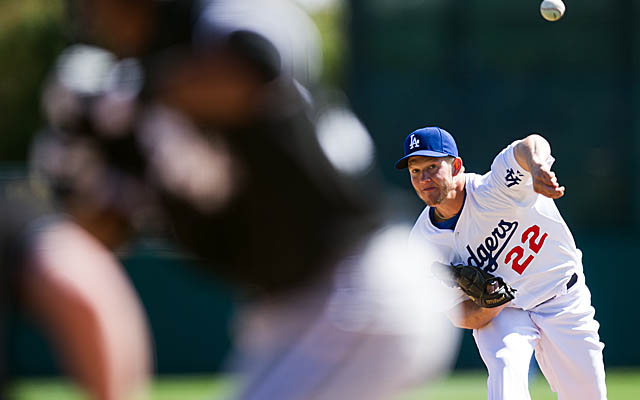 Kershaw's spotless so far, pitching 16 scoreless innings and collecting two wins. (Getty Images)