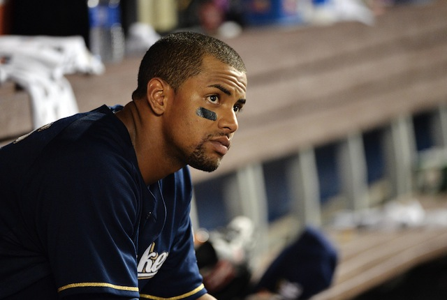 Khris Davis of the Brewers was the recent recipient of a disturbing threat. (USATSI)