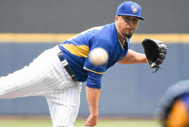 The Brewers aren't quite sure when Kyle Lohse will be able to do this again. (USATSI)