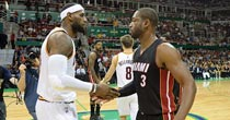 LeBron James, Dwyane Wade (Getty Images)