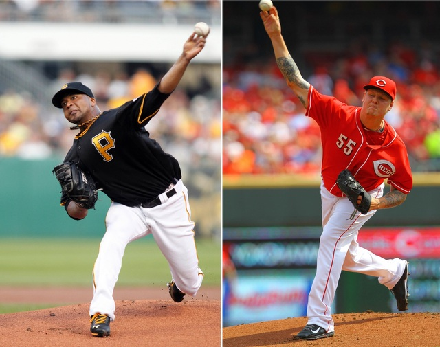 Francisco Liriano (left) and Mat Latos are headed for a wild-card game matchup.