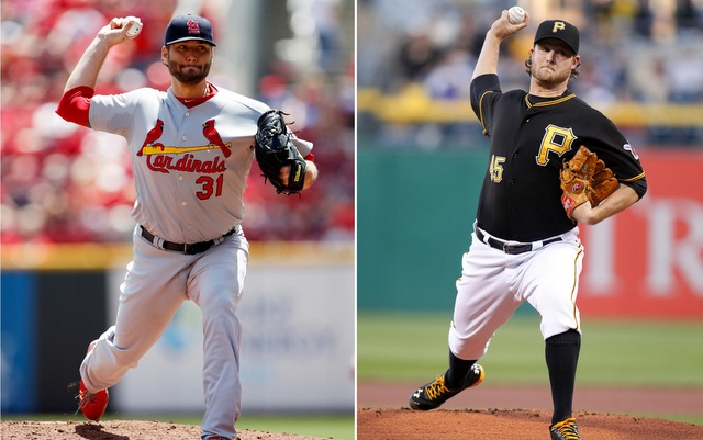 Lance Lynn (left) and Gerrit Cole is the NLDS Game 2 pitching matchup.