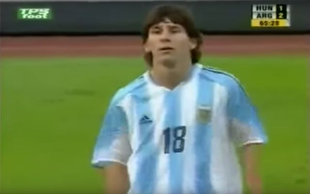 On This Date Lionel Messi Debuts For Argentina National Team Gets A Red Cbssports Com