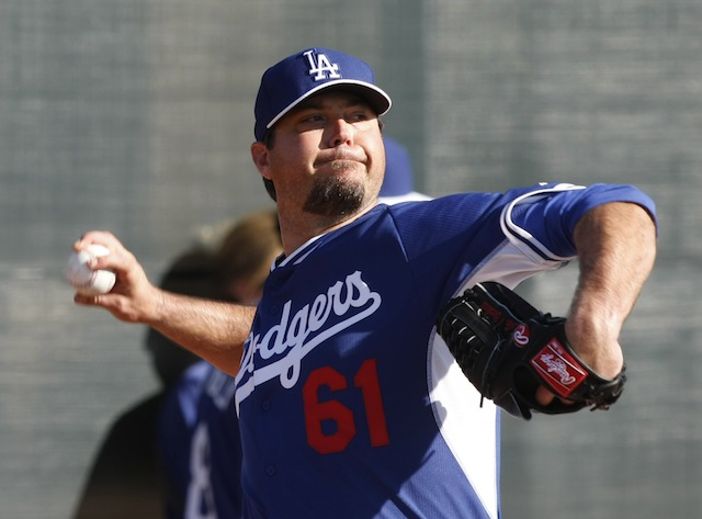 Josh Beckett's timeline for returning to the Dodgers may be up in the air. (USATSI)