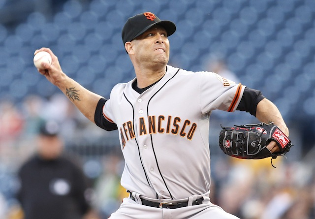Is there cause for concern with Tim Hudson of the Giants? (USATSI)